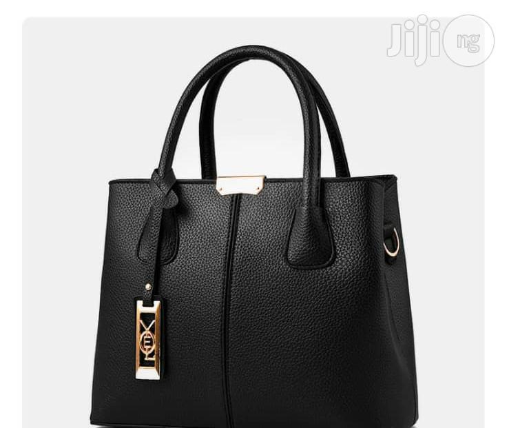 Classy Leather Handbags - Black