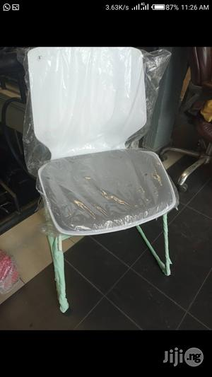 Gray And White Training Chair - Stackable   Furniture for sale in Lagos State, Victoria Island