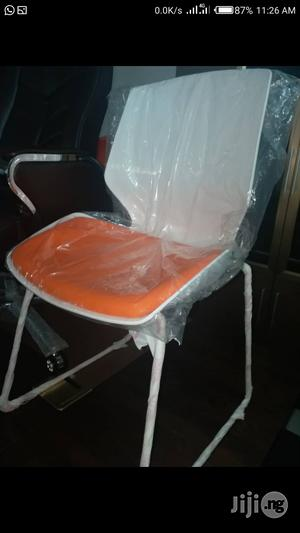 Orange And White Training Chair.   Furniture for sale in Lagos State, Victoria Island