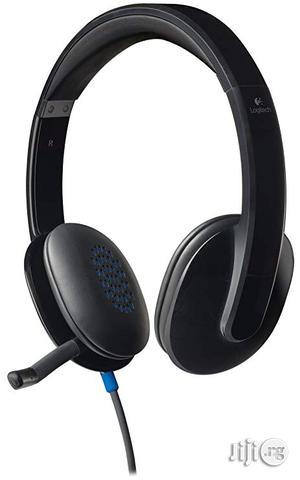 Logitech H540 Usb Computer Headset | Headphones for sale in Lagos State, Shomolu