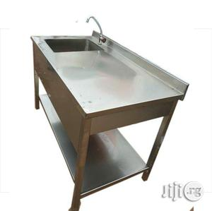 Stainless Single Sink Work Table With Work Table   Restaurant & Catering Equipment for sale in Lagos State, Surulere