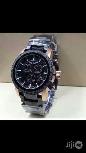 Burberry Chronograph Rose Gold/Black Chain Watch   Watches for sale in Lagos State, Lagos Island (Eko)