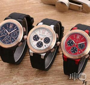 Bvlgari Chronograph Rubber Strap Watch   Watches for sale in Lagos State, Lagos Island (Eko)