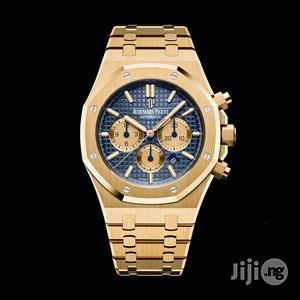 Audemars Piguet Chronograph Rose Gold Blue Face Chain Watch | Watches for sale in Lagos State, Lagos Island (Eko)