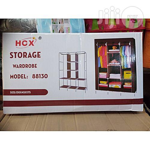 Archive: 3 Compartments Storage Mobile Wardrobe
