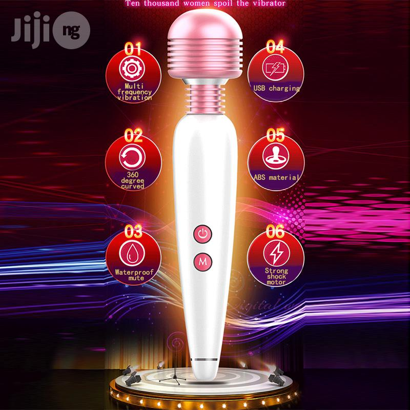 12 Speeds USB Charging Magic Wand AV Vibrator Sex Toy For Women | Sexual Wellness for sale in Ikeja, Lagos State, Nigeria