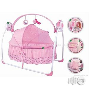 Primi Baby Rocking Bed With Mosquito Net-pink   Children's Gear & Safety for sale in Lagos State, Lagos Island (Eko)