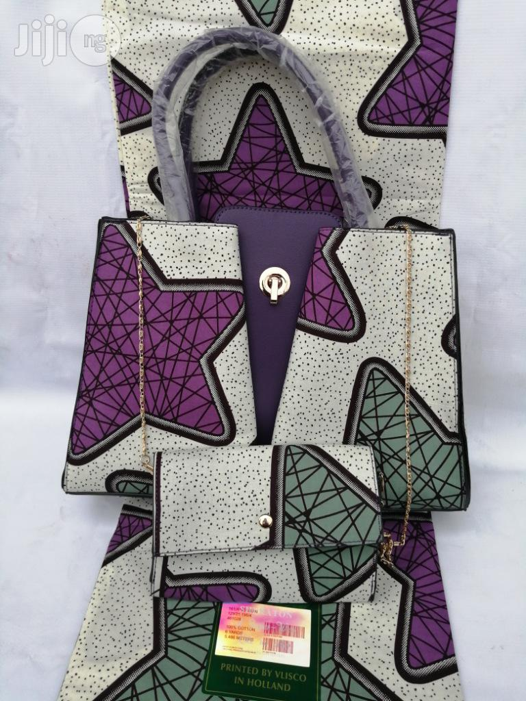 Archive: Italian Made Ankara Bags With 6yards Wax And Purse Xiv