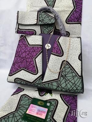 Italian Made Ankara Bags With 6yards Wax And Purse-xxi | Bags for sale in Gombe State, Gombe LGA