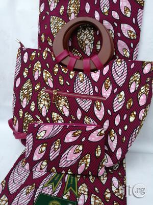 Italian Made Ankara Bags With 6yards Wax And Purse Xlviii | Bags for sale in Kano State, Kano Municipal