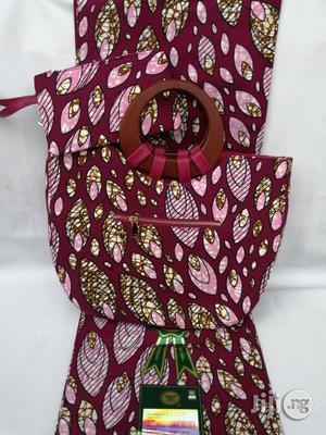 Italian Made Ankara Bags With 6yards Wax And Purse | Bags for sale in Katsina State, Katsina