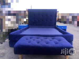 Padded Bedframe 41/2 By 6ft | Furniture for sale in Lagos State, Isolo