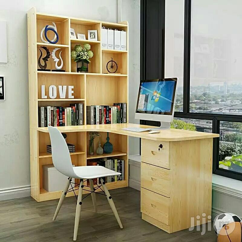 Office Table With Shelf