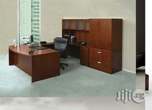 Executive Office Table With File Shelf   Furniture for sale in Lagos State, Ikeja