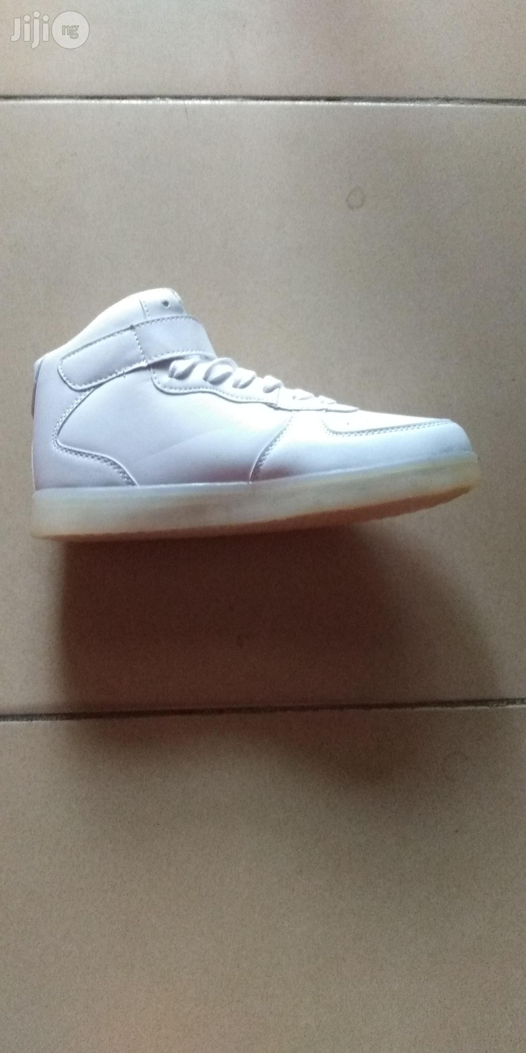 Led White Canvas Sneakers | Children's Shoes for sale in Lagos Island (Eko), Lagos State, Nigeria