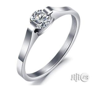 U.S Splendid Diamond Sterling Silver Ladies Engagement Ring A1- Silver | Wedding Wear & Accessories for sale in Lagos State, Ikeja