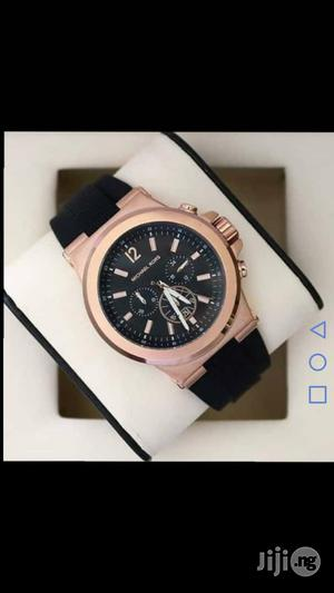 Micheal Kors Rose Gold Rubber Strap Watch   Watches for sale in Lagos State, Lagos Island (Eko)