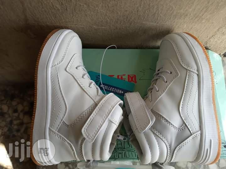 White High Top Canvas Sneakers   Children's Shoes for sale in Lagos Island (Eko), Lagos State, Nigeria