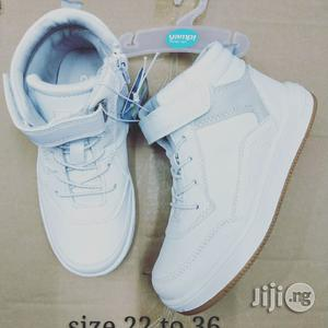 White High Top Canvas Sneakers | Children's Shoes for sale in Lagos State, Lagos Island (Eko)
