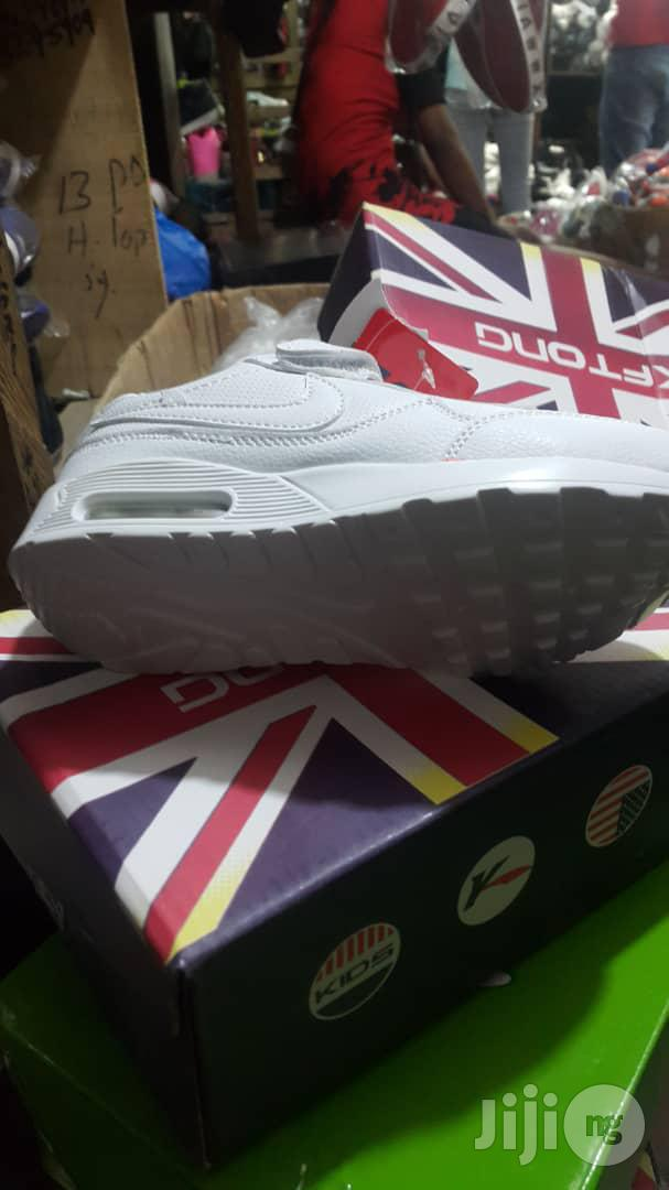 White Cut Canvas Sneakers For Kids | Children's Shoes for sale in Lagos Island (Eko), Lagos State, Nigeria