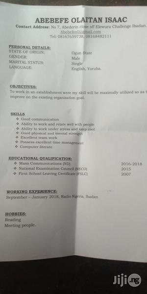 Office CV | Office CVs for sale in Oyo State, Ibadan