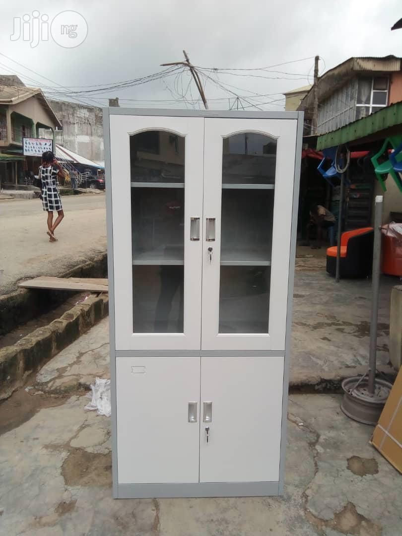 Imported Quality Half Glass Metal Cabinet