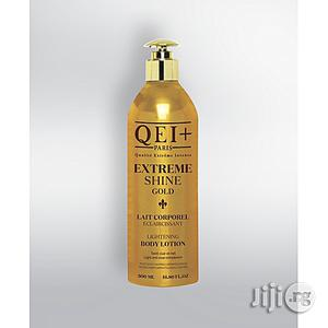 Qei+ Extreme Shine Gold Body Lightening Milk | Skin Care for sale in Lagos State, Ojo
