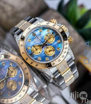 Rolex Oyster Perpetual (Daytona) Gold/Silver Half Ice Chain Watch   Watches for sale in Lagos State, Lagos Island (Eko)