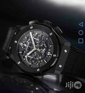 Hublot Chronograph Skeleton Black Rubber Strap Watch   Watches for sale in Lagos State, Lagos Island (Eko)