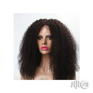 Cambodian Curly Human Hair Wig Natural - Color 2 | Hair Beauty for sale in Lagos State, Ikeja