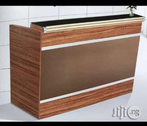 Quality Recenptoin Desk, With Mobel Drawers, and Glass on Top | Furniture for sale in Lagos State, Ajah