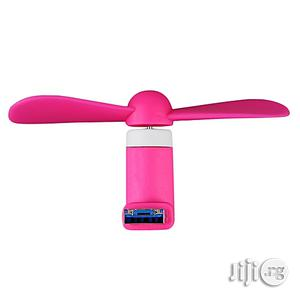 Portable OTG Mini Micro USB Large Wind Cooling Fan | Accessories & Supplies for Electronics for sale in Lagos State, Ikeja