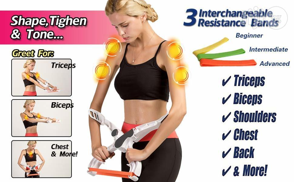 Wonder Arm Workout Exercise System With 3 Resistance Training Bands | Sports Equipment for sale in Surulere, Lagos State, Nigeria