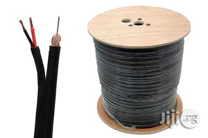 200M High Quality CCTV Video Coax Cable Black RG59 2 Core Power   Accessories & Supplies for Electronics for sale in Abuja (FCT) State, Wuse