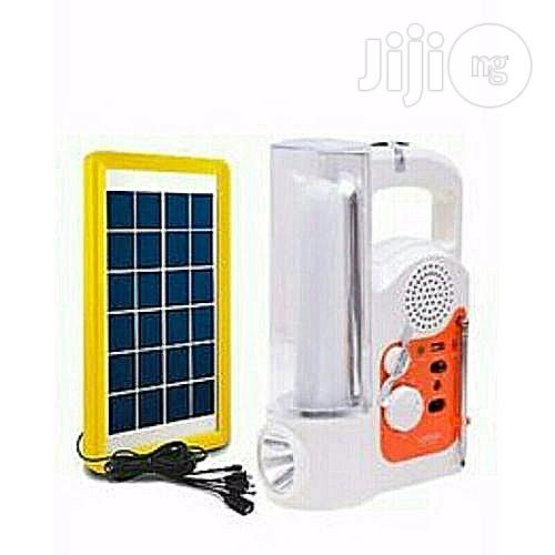 Lontor Rechargeable Lamp & Radio With USB + Solar Panel