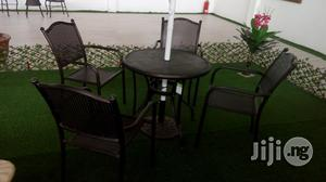 Strong & Durable Rattan Palm Chair With Table and Umbrella.   Garden for sale in Lagos State, Lekki