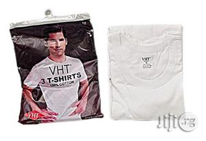 VHT 3 in 1 Premium Round Neck T-Shirt – White | Clothing for sale in Lagos State, Mushin