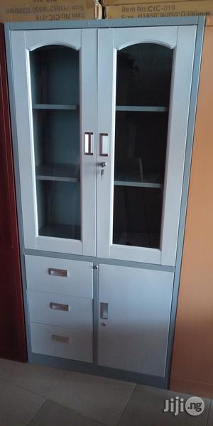 Imported Quality Half Glass Metal Cabinet | Furniture for sale in Lagos State, Ojo