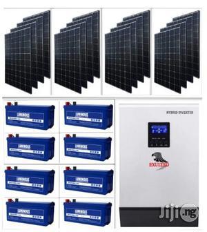 5kva Hybrid Inverter With 8 Batteries & Solar Installation | Solar Energy for sale in Lagos State, Ikeja