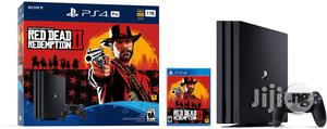 Playstation 4 Pro 1TB Console Red Dead Redemption 2 | Video Game Consoles for sale in Lagos State, Ikeja
