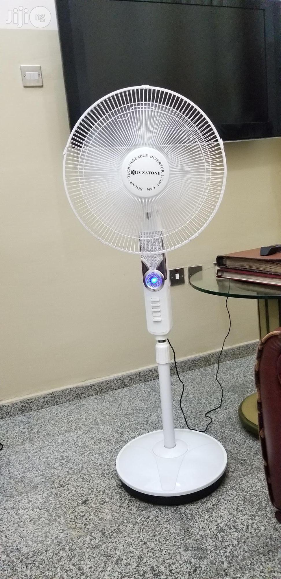 Dizatone Solar Rechargeable Fan | Solar Energy for sale in Ikeja, Lagos State, Nigeria