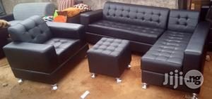 Set of Sofa Chairs, Couches. L-Shape and a Single Seater With Ottoman | Furniture for sale in Lagos State, Ajah