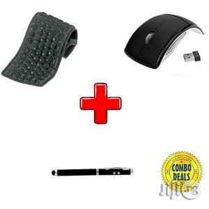 Fold-able Mouse And Keyboard + 4 In 1 Stylus Pen   Computer Accessories  for sale in Lagos State, Isolo