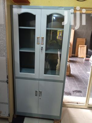 Imported Quality Half Glass Metal Filling Cabinet | Furniture for sale in Lagos State, Ojo
