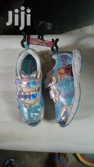 Blue Frozen Canvas Sneakers for Girls | Children's Shoes for sale in Lagos State, Lagos Island (Eko)
