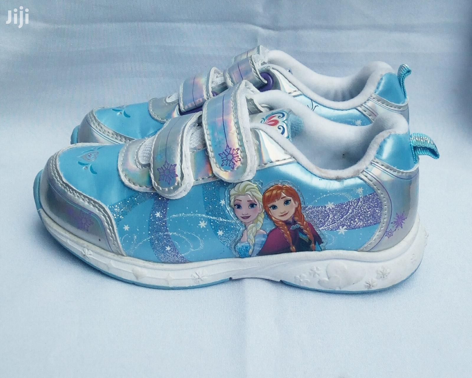 Blue Frozen Canvas Sneakers for Girls | Children's Shoes for sale in Lagos Island (Eko), Lagos State, Nigeria