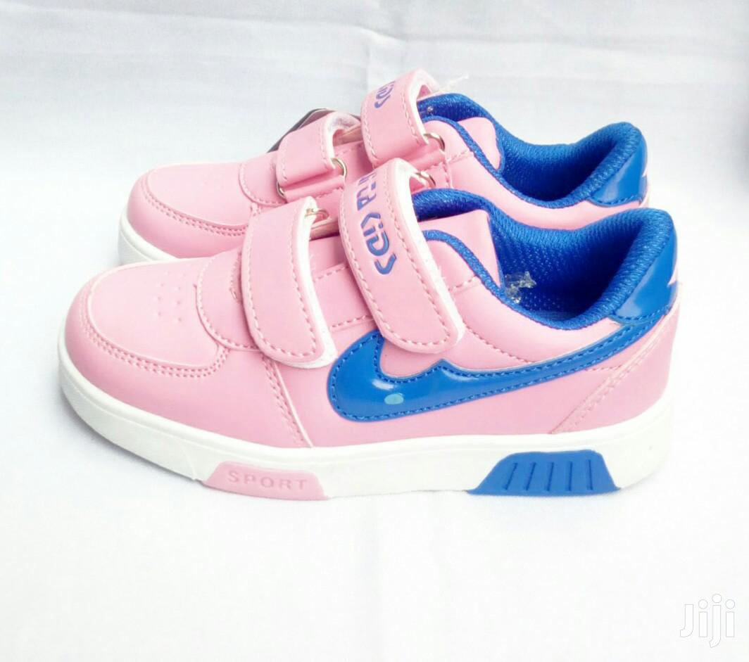 Pink and Blue Canvas Sneakers