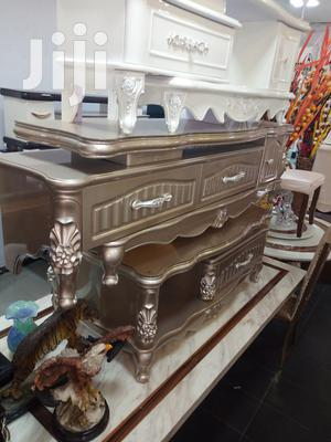 Imported Quality Unique Colour Glass Top Center Table With Tvstand | Furniture for sale in Lagos State, Lekki