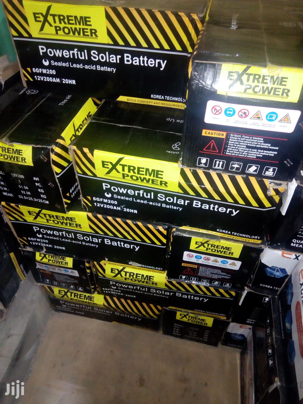 200ah Extreme Power Solar Battery Available With 1yr Warranty   Solar Energy for sale in Ojo, Lagos State, Nigeria