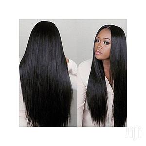 Black Straight Lace Front Wig With Kimdashian Closure | Hair Beauty for sale in Lagos State, Surulere